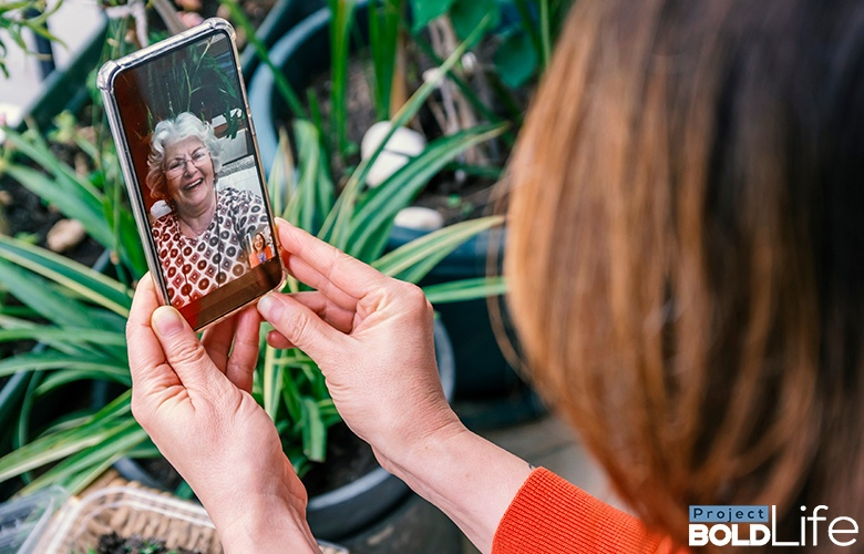 Someone Facetiming with their dear granny