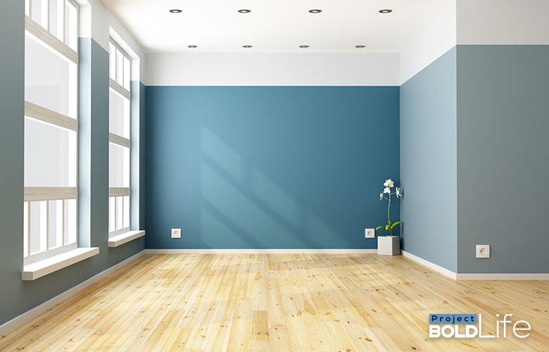An empty room where a minimalist lives