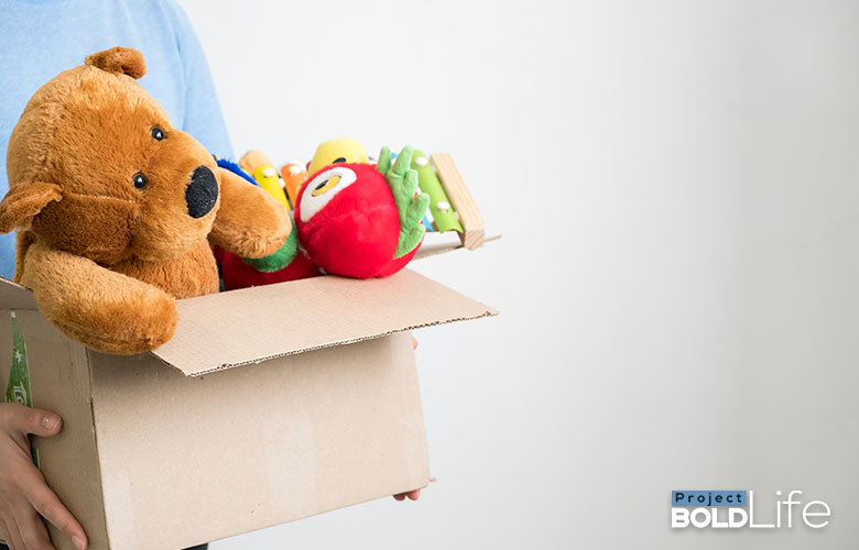 Someone giving away a bunch of toys they don't need