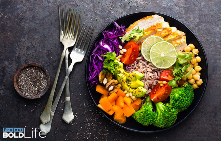 A colorful salad that is pretty darn healthy