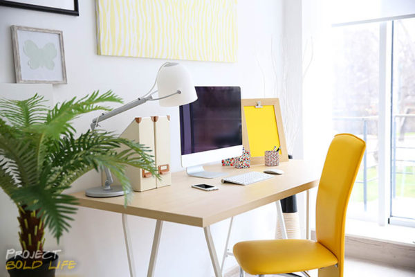 A home office workstation all nice and clean