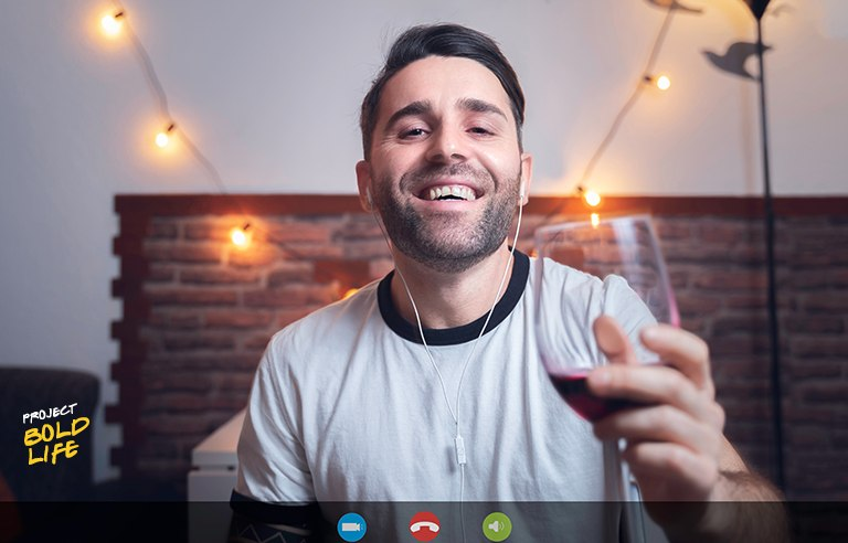 A creepy dude beckoning you on a video call