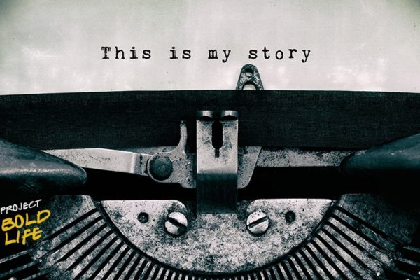 A typewriter, implying someone is writing a biography